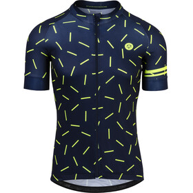 AGU Hail Short Sleeve Jersey Men blue/yellow